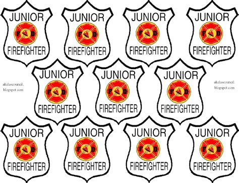 free coloring pages of firefighter badge
