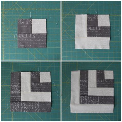 Half Log Cabin Quilt Pattern by A Half Log Cabin Block Tutorial Quilts Quilts