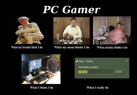 Pc Gamer Meme - kludge spot how people see me pc gamer