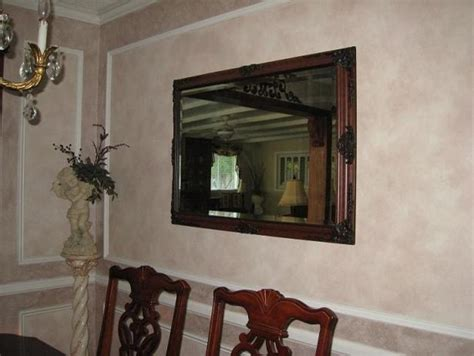 Two Tone Dining Room Walls by Faux Painted Two Tone Walls And Molding Traditional