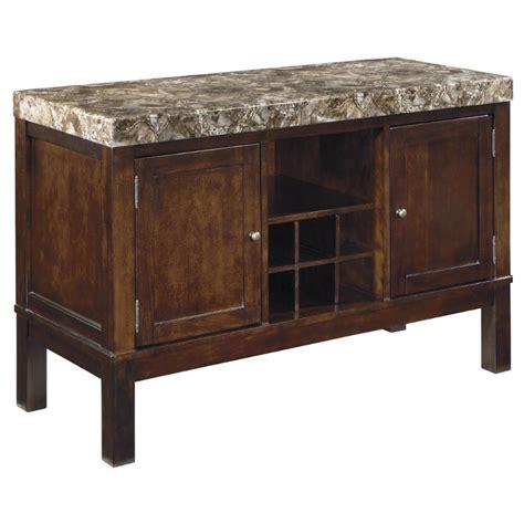 dining room furniture server d567 60 ashley furniture kraleene dark brown dining room