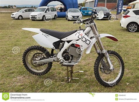 electric motocross electric motocross motorcycle editorial photography