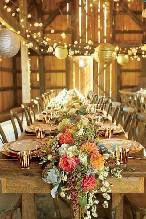 wedding reception table decor ideas 30 barn wedding reception table decoration ideas
