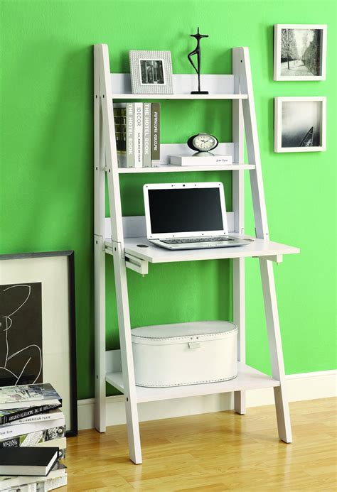 white desk with bookcase modern white ladder desk bookcase combination with flip
