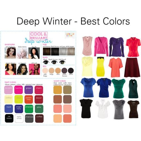 best hair color for deep winters deep winter best colors winter color palette 1 pinterest