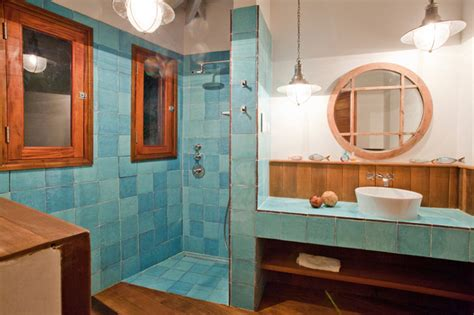Caribbean Bathroom Decor by Villa Susanna Caribbean