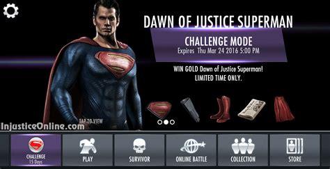 injustice mobile challenge injustice gods among us mobile of justice superman