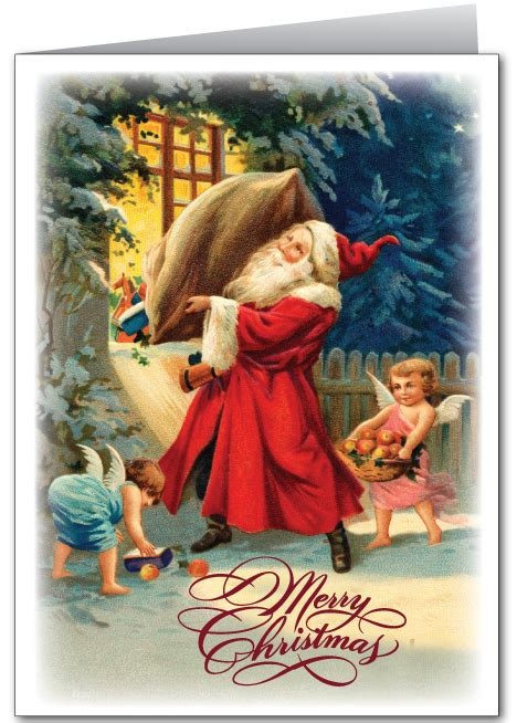 old fashioned vintage santa card 36051 harrison