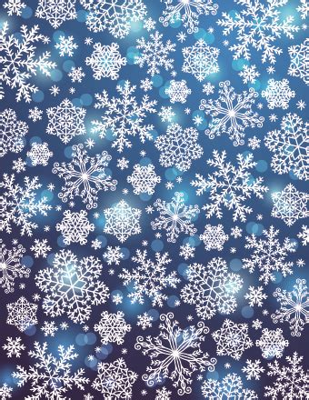 Vector Winter Snowflakes Background Free Vector In