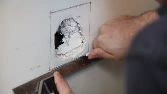 fix in wall how to repair drywall large hole build com youtube