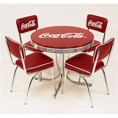 coca cola table and chairs set lavieen rakuten global market coca cola low table