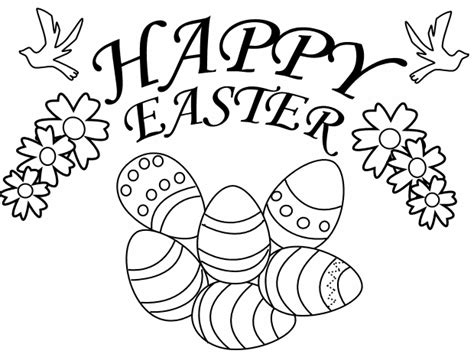 Easter Day Coloring Pages happy easter day eggs coloring print pages free printable crafts 2017