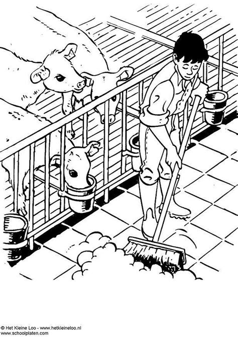 descargar la fattoria degli animali libro de texto gratis dibujo para colorear establo de vacas img 3732