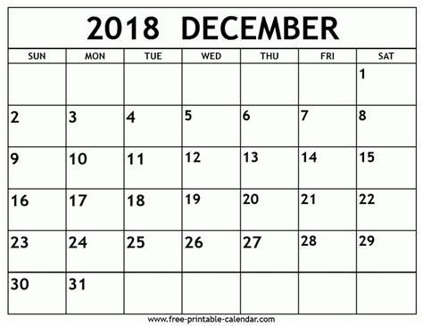 printable calendar 2018 hraconsulting printable monthly calendar december 2018 journalingsage com