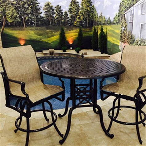 bar height patio furniture clearance bel air cast aluminum sling bar height patio set
