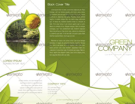 green brochure template green trifold brochure indesign template by alvarocker