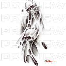 skulls space filler tattoo design image result for smoke tattoos images