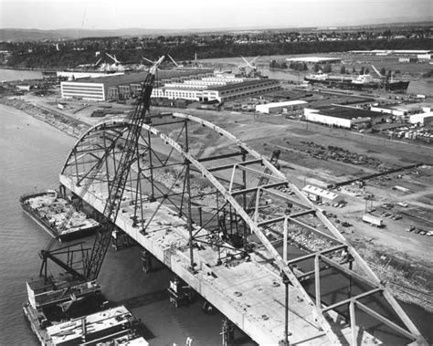 Portland Records Request Center 1973 Fremont Bridge Early Construction