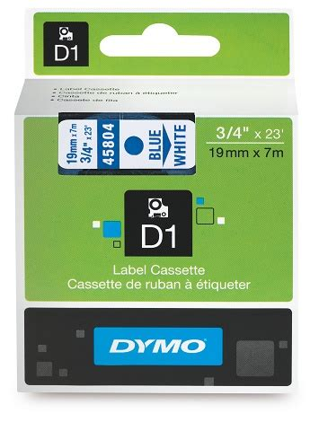 dymo label cassette dymo d1 label cassette 19mmx7m blue on white skout