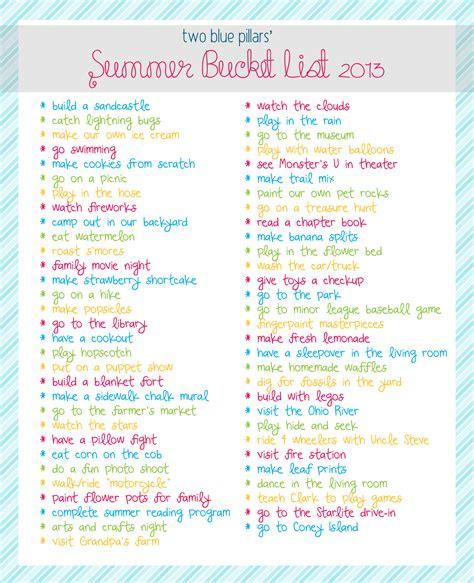 summer bucket list list for crazy teens apexwallpapers com summer bucket list 2013 two blue pillars