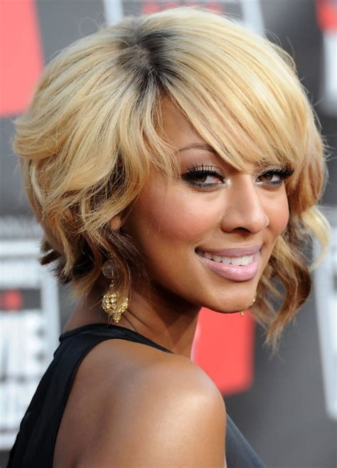american n wavy hairstyles african american short blonde wavy bob hairstyle with