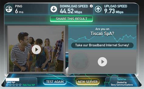 speed test tiscali tiscali fibra unboxing e speed test webeats
