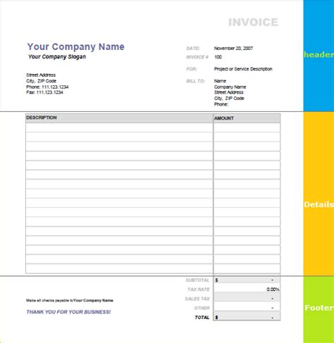 band invoice template blank invoices free and 5 steps to make it easy