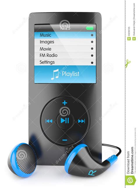 iphone to mp3 musical mp3 player stock illustration image 53239725