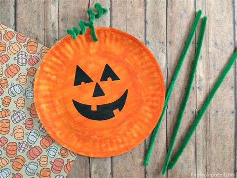pumpkin paper plate craft easiest paper plate pumpkin craft