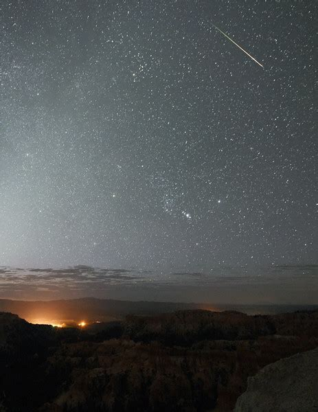 the annual perseid meteor shower from bryce