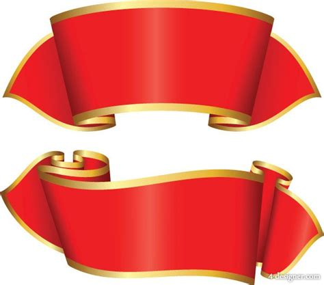 4 designer ribbon vector material 5