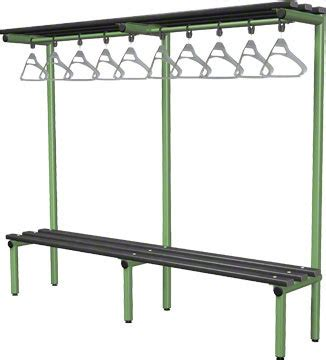 overhead bench 2000mm single sided overhead bench black polymer