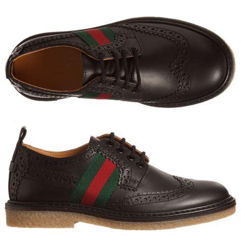 Brogue Shoes gucci black leather brogue shoes childrensalon