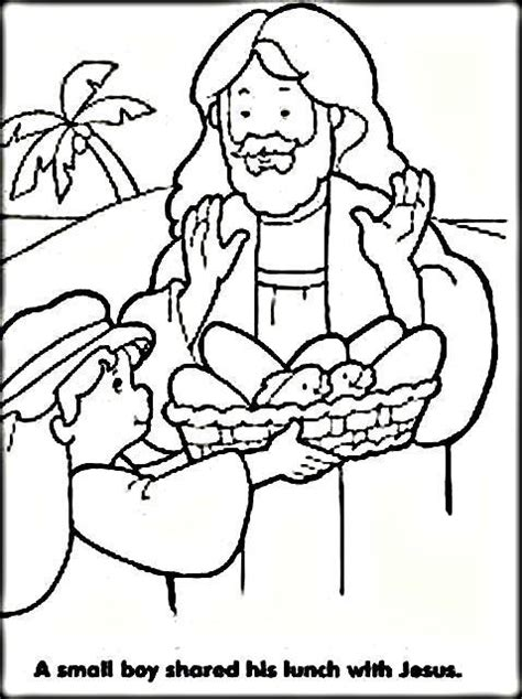 Coloring Page Feeding 5000 by Jesus Feeds 5000 Coloring Pages For Color Zini