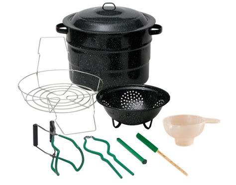 Canning Pots And Racks canning kit 21 quart canner pot rack utensils stock pot jam fruit outdoors c ebay