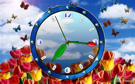 tulip clock screensaver tulip clock