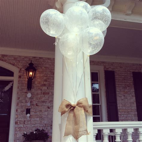 cute bridal shower outdoor decor simple and beautiful