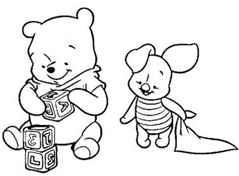 Baby Pooh Coloring Pages Baby Winnie The Pooh Coloring Pages