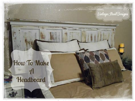 How To Make A Door A Headboard by Vintage Door Headboard