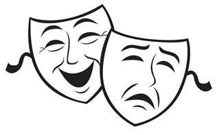 black and white drama drama mask black and white clipart best