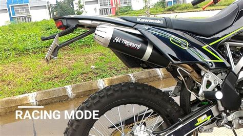 Knalpot Racing 3 Suara knalpot hybrid 3 suara 3tech tridente test on kawasaki klx 150 bf
