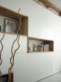 un mur de rangement blanc et bois alexandra cr 233 mois
