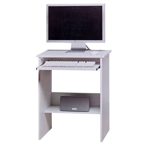 home office white desk white wooden computer table sliding keyboard shelf