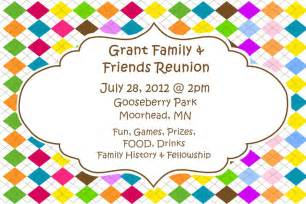 family invitations customizable family reunion invitations by