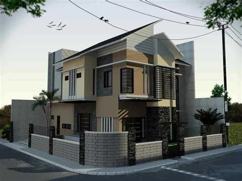 desain gapura gang minimalis arsitektur rumah minimalis type 70 dengan 2 lantai