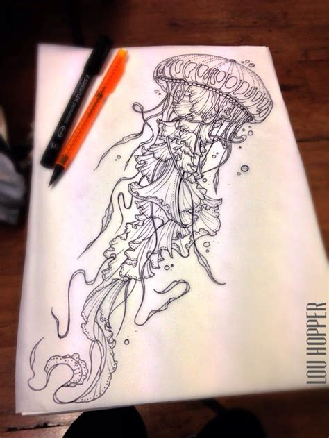 jellyfish tattoo design jellyfish sketch nara jellyfish sketches