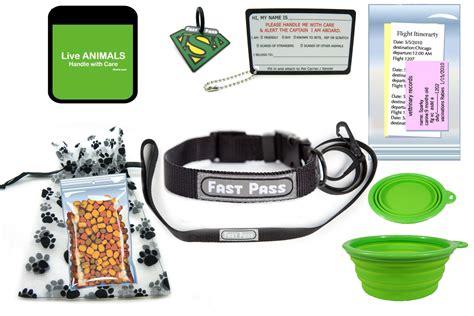 in cabin pet travel tsa fast pass leash collar in cabin pet travel kit