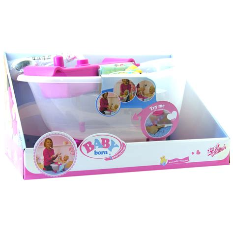 baby born doll bathtub baby born interactive bathtub with duck ebay
