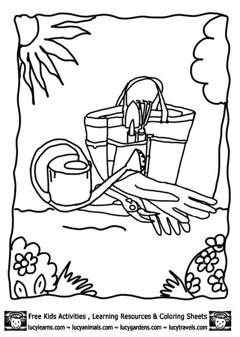 coloring page garden tools coloring pages of tools coloring home