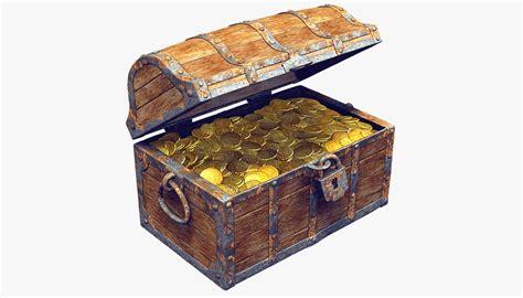 Max And Treasure Box by 3ds Max Wooden Treasure Chest